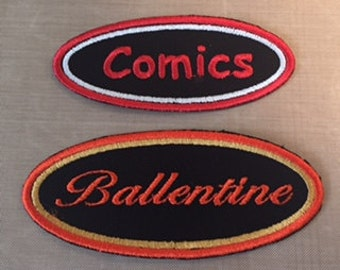 Oval Name Tag Custom Patch sizes 3.5 x 1.5 or 4.00 x 1.75