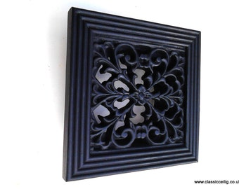 """Cast iron effect or White exterior use 6 x 6"""" 100mm(4""""or 5"""") Ducting air vent cover"""