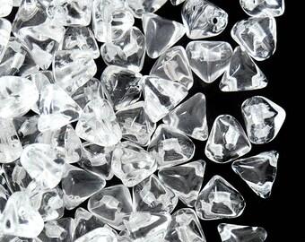50pcs Super-Kheops® par Puca® 6 mm  Beads, Сrystal (SK001)