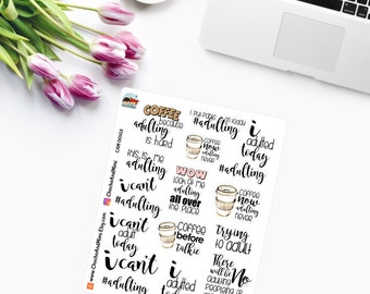 ADULTING IS HARD Planner Stickers CAM00103
