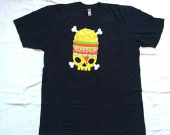 Death burger shirt-junk food-vegetarian