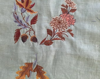 3 Leaf Autumn Machine Embroidery Quilting Sewing Patches