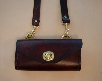 Tara Handmade Brown Leather Crossbody Bag - Small Purse - Handbag