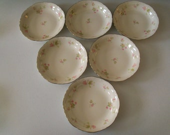 Homer Laughlin Maple Leaf Set Of Six Soup Bowls