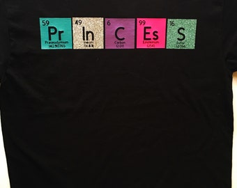 Princess periodic table Adult T-Shirt