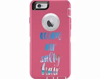 Ocean Air Salty Hair Custom iPhone 6 & iPhone 6s Otterbox Defender Phone Case | Custom Phone Cases