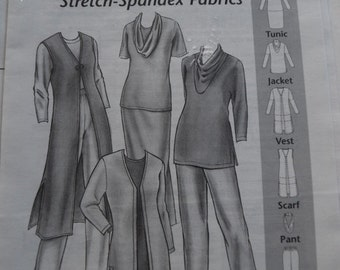 Creations for Slinky Stretch-Spandex Fabrics in sizes XS-XL (uncut)