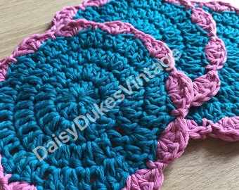 Ready to post: Handme Crochet Cotton Wash Cloths Large