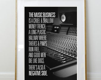 The Music Business // Hunter S. Thompson Quote // 11 x 17 // A3 // RIBBA 290 x 390mm