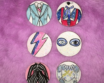 David Bowie Pin Badge Collection