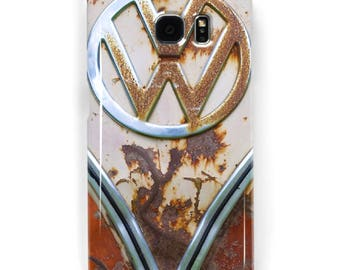 Rusty VW Samsung Galaxy Phone Case, S4, S5, S6, S7, S7 Edge, S8 Plus Volkswagen VW Bus Kombi phone case, VW Campervan gift