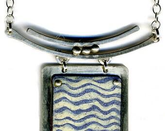 Enamel & Silver Necklace