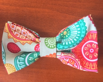 Paisley clip-on bowtie
