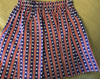 Patriotic Fourth of July Stars and Stripes Independance Day Toddler Skirt
