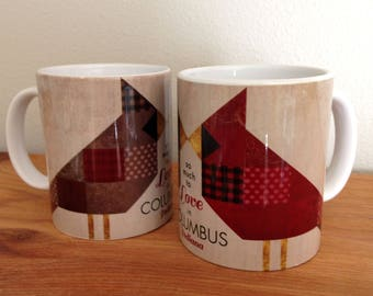 Columbus IN Cardinals Kiss Mug Set