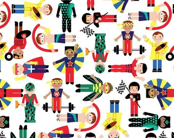 Studio E Super heroes designer cotton