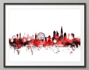 London Skyline, London Cityscape England, Art Print (1093)