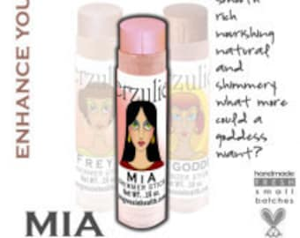 Organic Mineral Makeup Cream Shimmer Stick in MIA  Acne Safe  Non Toxic  Non-Comedogenic  Non-Toxic Acne Safe Cosmetics