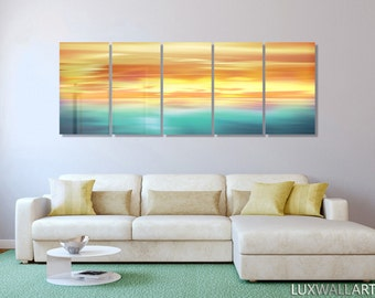 Large Abstract Metal Wall Art Decor Color Trilogy