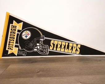 Large Pittsburgh Steelers Pennant - 1980's