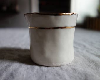 Espresso Cup with Gold Rim, 2