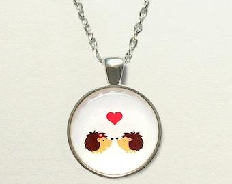 Hedgehog Necklace, hedgehog jewelry, hedgehog pendant, woodland necklace, woodland jewelry, forest necklace, forest jewelry, forest pendant