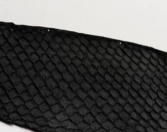 Genuine fish Tilapia leather black leather skin