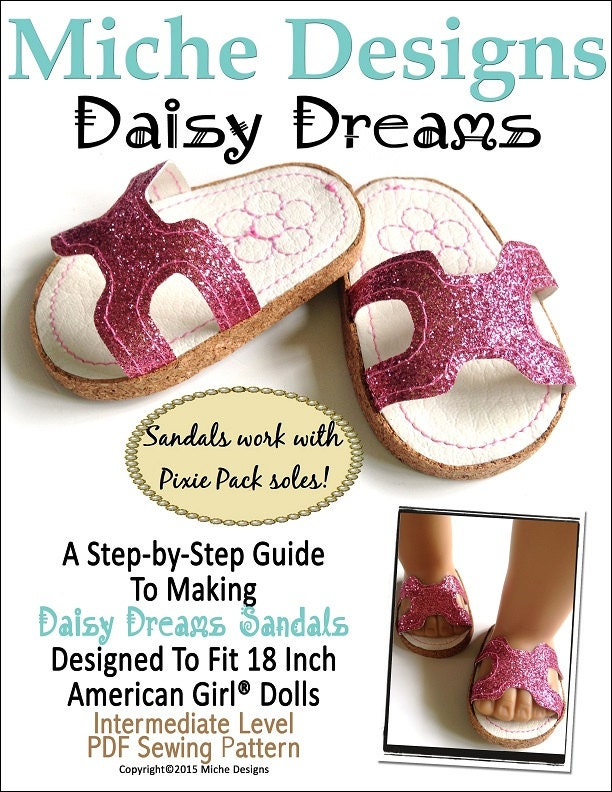Pixie Faire Miche Designs Daisy Dreams Sandals Doll Clothes