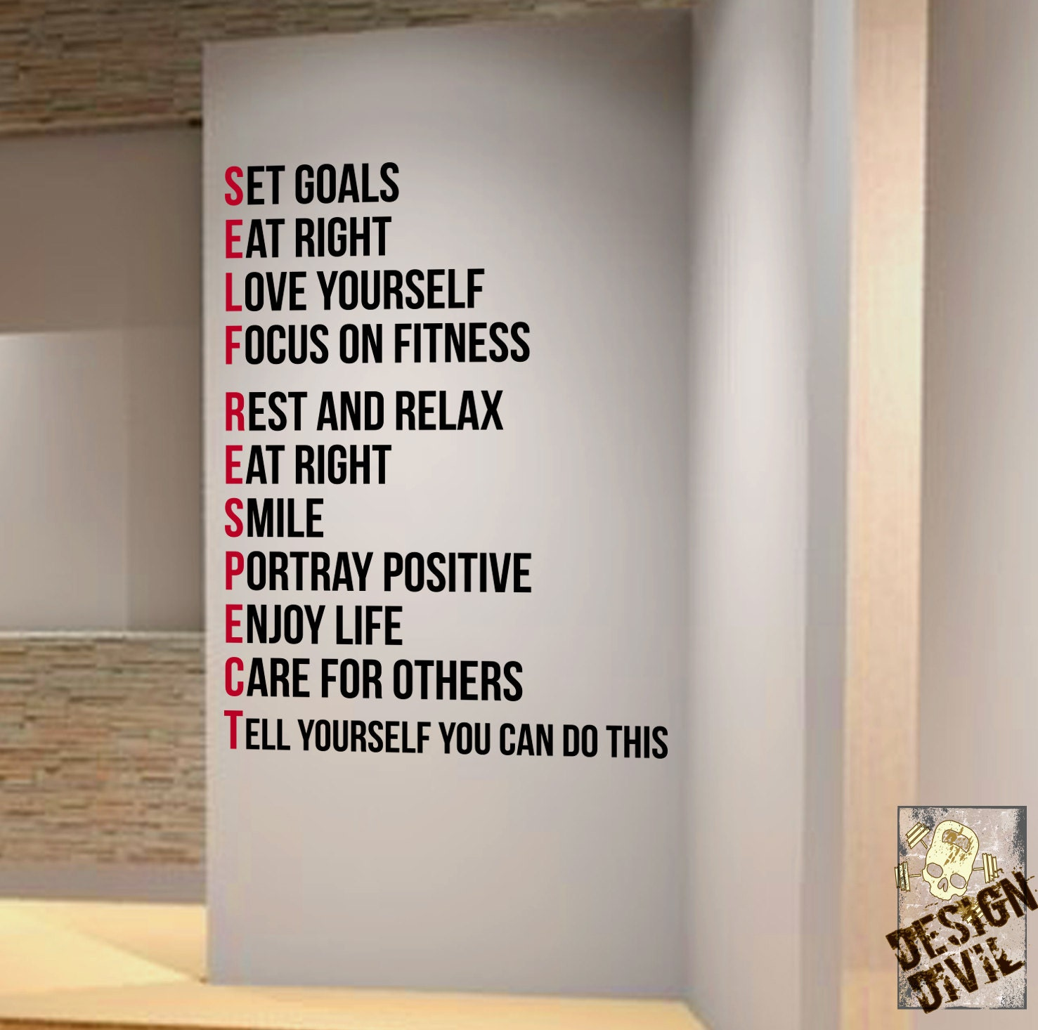 Set Goals You Can Do This Wall Fitness Decal Quote Gym