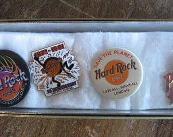 Hardrock Cafe collector pins, Set of 7 pins, Love All, Serve All, Save the Planet