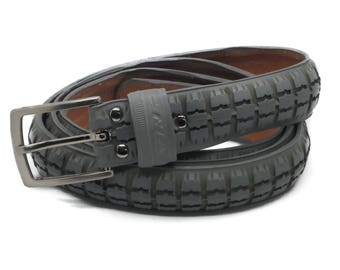 """Bicycle Tire Belt """"TIRE"""" (upcycled vegan handmade) by tirebelt.com - Fall Collection 2017"""