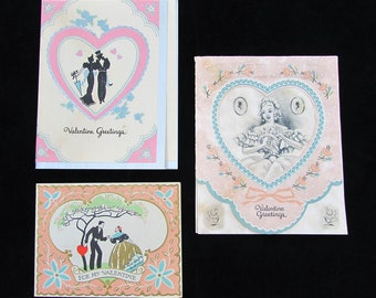 1920s Carrington Valentine Cards - folded cards