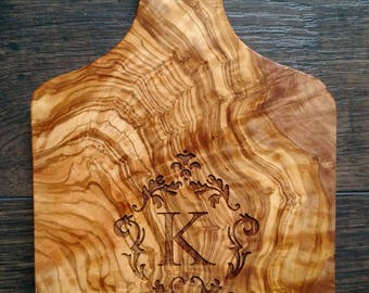 Engraved Olive Wood Paddle Board,Cutting Board