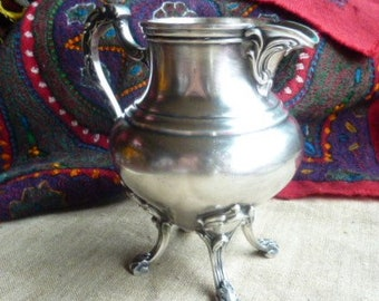 silver plated Creamer * 13 cm * retro