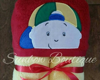 Caillou Inspired Hooded Towel... Baby through child sized!
