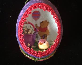 Winnie the Pooh Real Egg Christmas Ornament