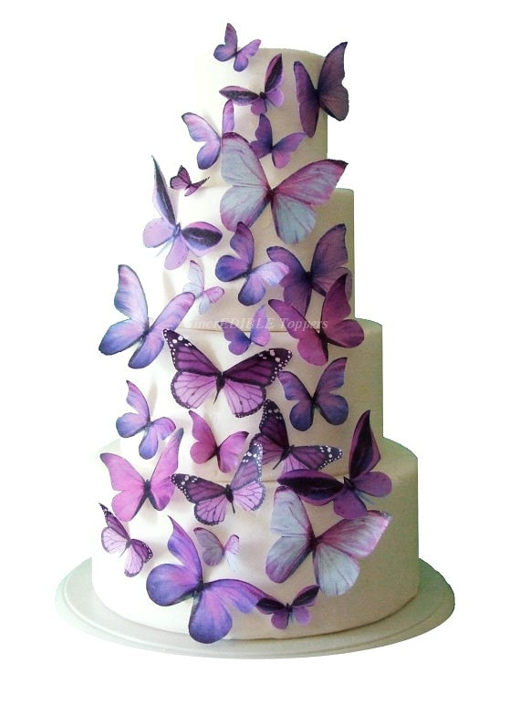 Wedding Cake Topper Edible Butterfly Cake Decorations