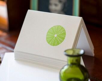 Sea Urchin Letterpress Card Set
