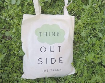 Eco Tote Bag, Canvas Market Bag, Shopping Tote Bag, Quote Tote Bag, Vegan Tote Bag, Eco Girl Tote Gift, Cotton Tote Bag, Green Canvas Tote