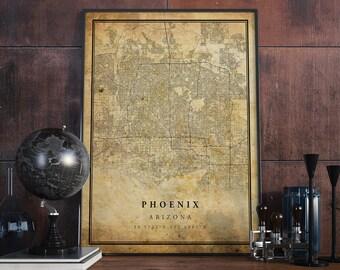 Phoenix map | Etsy