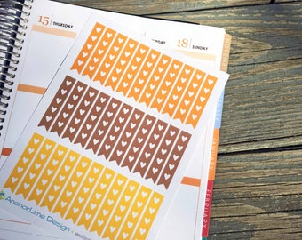 Fall Color Checklist Flag Stickers for Erin Condren, Plum Paper, Happy Planner, InkWELL