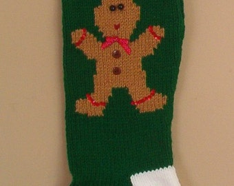 Personalized Knitted Gingerbread Man Christmas Stockings for 2018