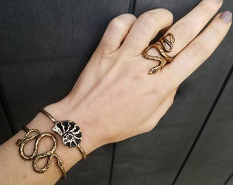 Bronze Snake Ring - inspired by central Texas Garden Snakes - Jamie Spinello