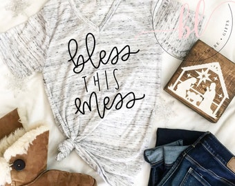 Bless This Mess SVG - Bless This Mess - Hand Lettered SVG