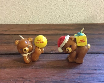 Two Bear Candles / Russ Brand / 1980's
