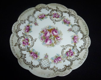 Beautiful Vintage Vienna Austria Imperial Crown Porcelain Plate