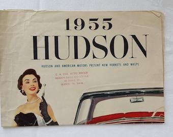 1955 Hudson Dealer Foldout Sales Brochure / Poster