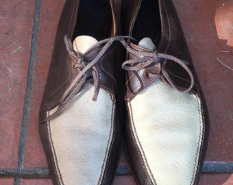 Two tones Shoes Brown & Light Beige man shoes by Barrett US SIZE 8