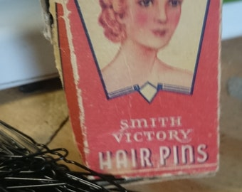 Vintage Box of Smith Victory Hairpins