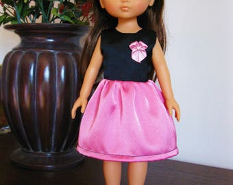 """Handmade Doll Clothes Dress fits 13"""" Corolle Les Cheries Dolls Handcraft 8"""